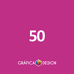 50 Adesivo de Papel | 3x3 cm | Papel Colante Couche | Meio Corte + Corte Especial | 4x0 FRENTE Colorida apenas :: id 134/10409