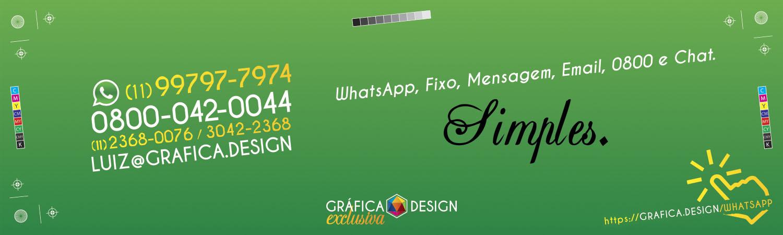 WhatsApp, Fixo, Mensagem, Email, 0800 e Chat.