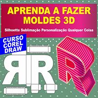 Curso CorelDRAW Molde Silhouette Lembrancinha 3D